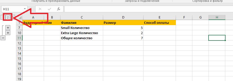 Обчислення проміжних підсумків в Excel з прикладами