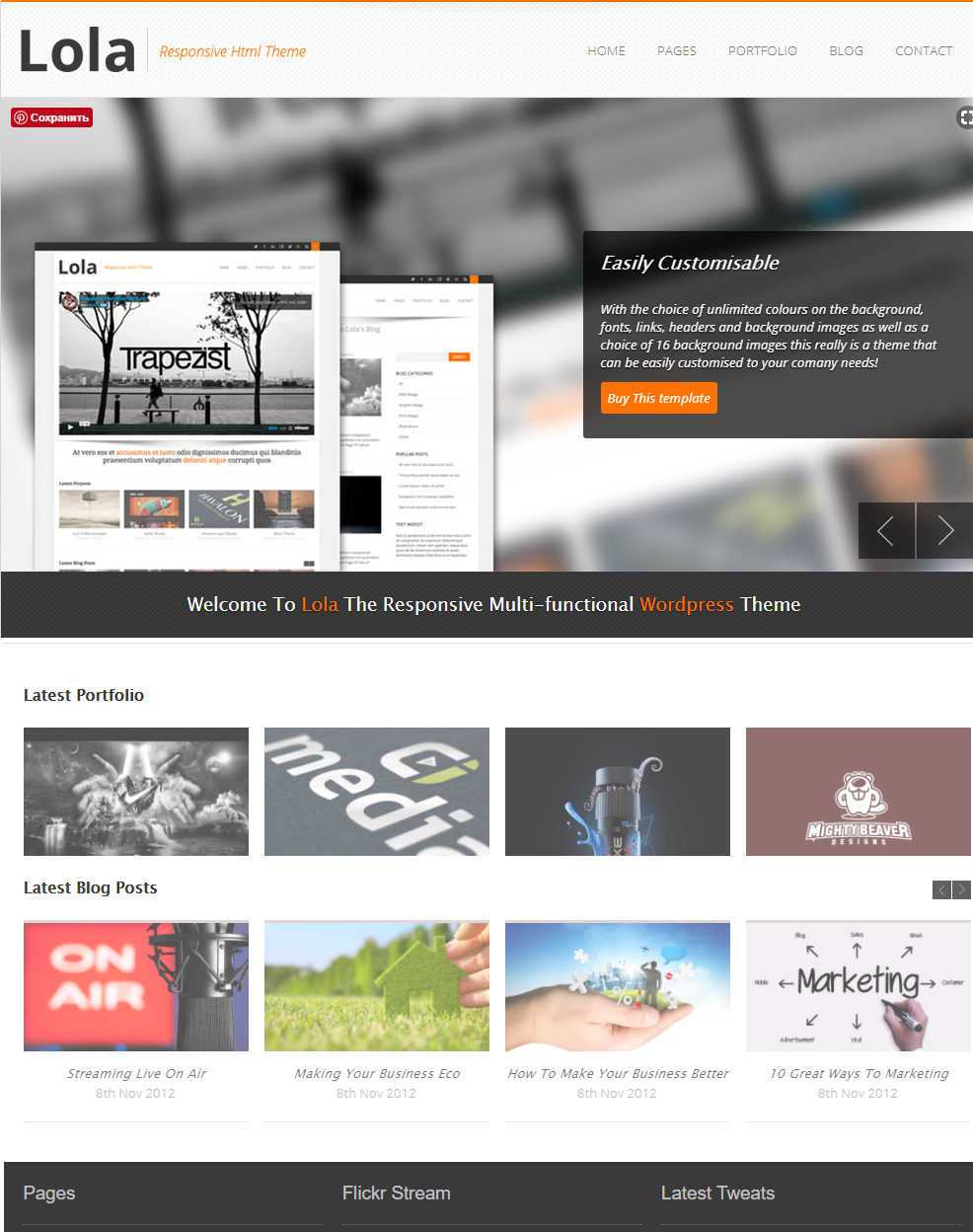 50+ кращих безкоштовних шаблонів для WordPress блогу, журналу, агентства, портфоліо, і корпоративного веб-сайту 2018