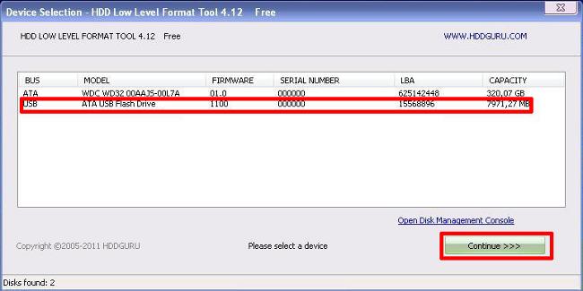 FAT32 і низькорівневе форматування флешки