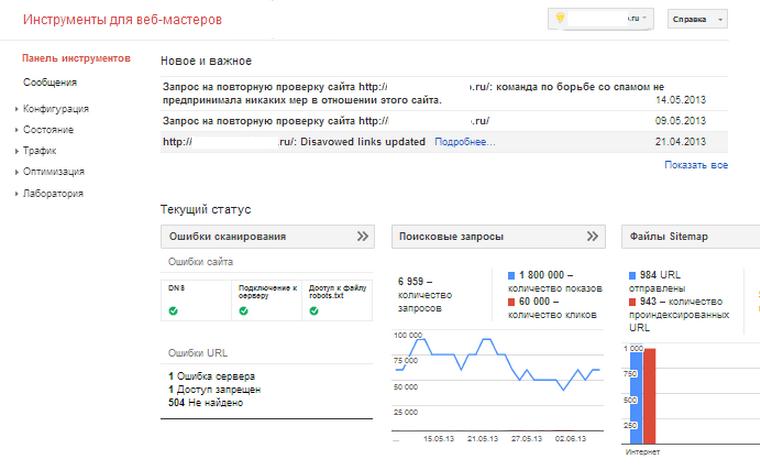 Як додати сайт google вебмастер — інструкція