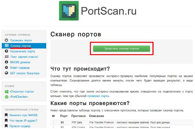 ТОП-3 онлайн сервісів для сканування портів